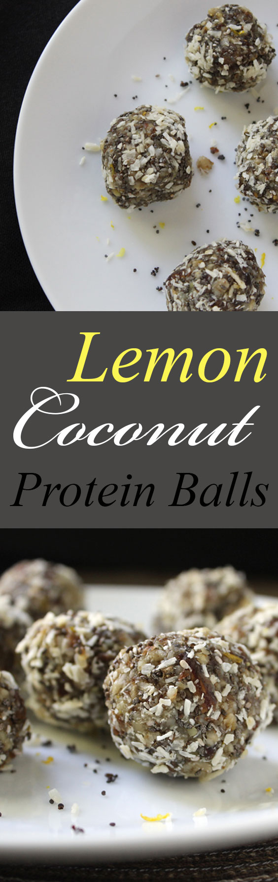 Fast and easy! Vegan Lemon Coconut Protein Balls. #vegan #gf #backpacking