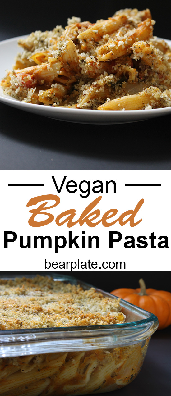 YUMMY!!! Vegan Baked Pumpkin Pasta! #vegan #plantbased #dinner #pasta #recipe #food