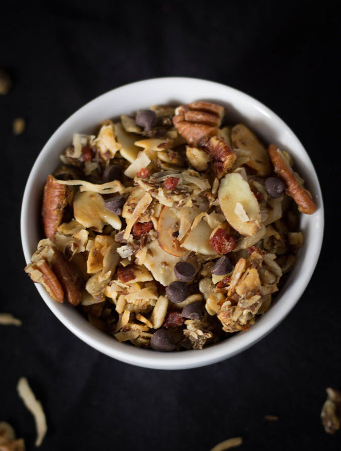 Vegan Maple Bacon Chocolate Granola