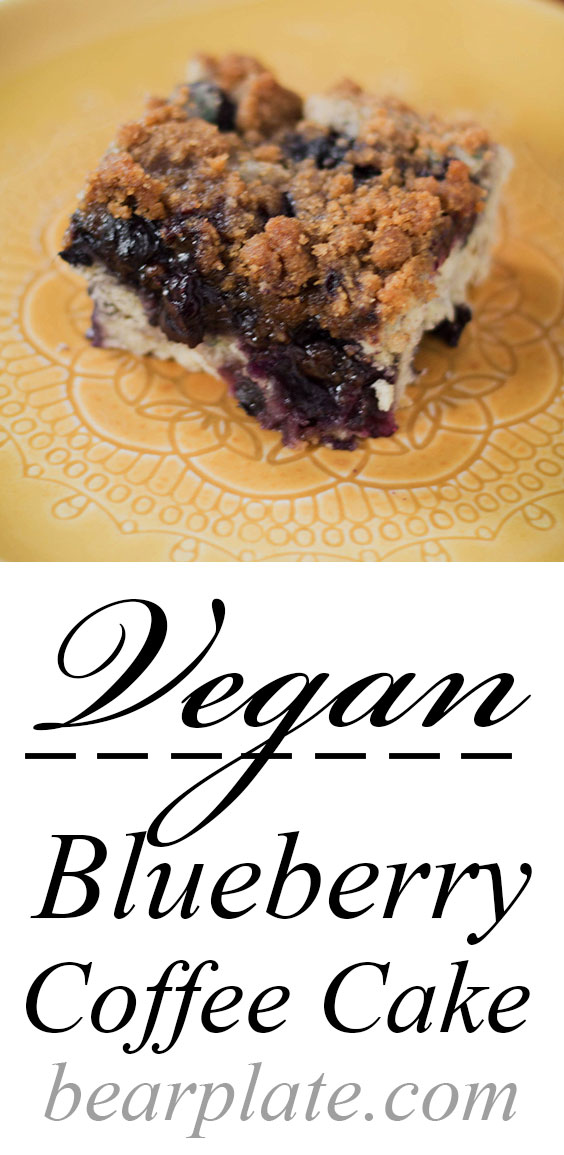 EASY!!! Vegan Blueberry Coffee Cake! Tasty breakfast #vegan #plantbased #breakfast #recipe #food