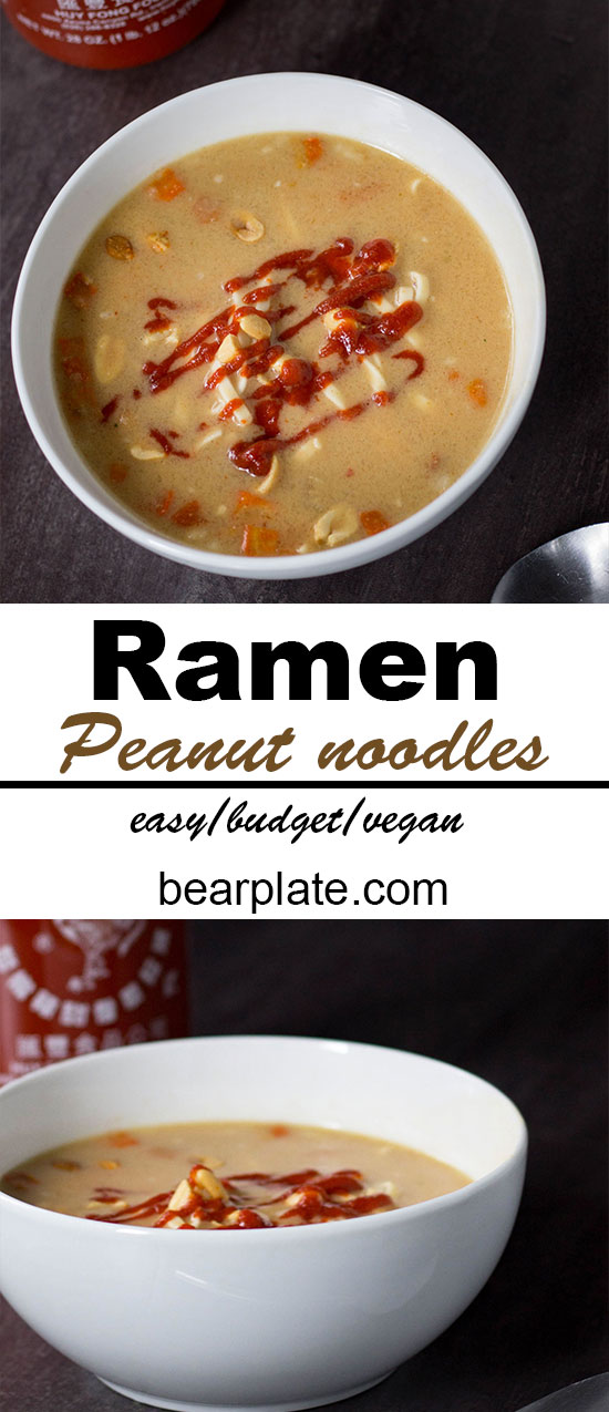 Easy on the go meal! Vegan Ramen Noodles! #vegan #easyrecipe #plantbased #soup #backpacking #recipe #food #lunch #budget
