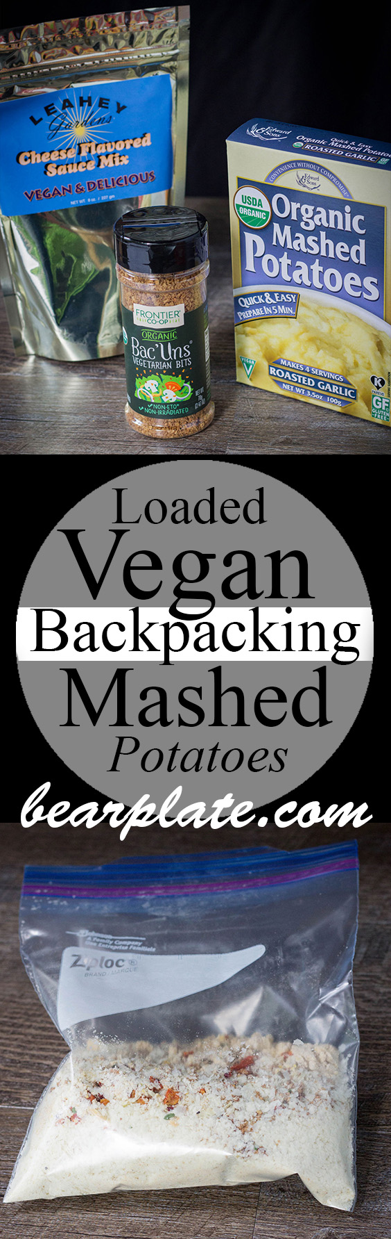 Loaded Vegan Backpacking Mashed Potatoes! #vegan #backpacking #plantbased #yummy #trailfuel #recipe