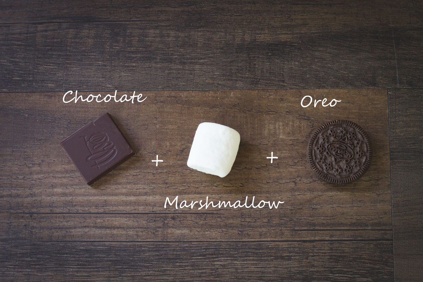 Chocolate, marshmallow, and oreo.