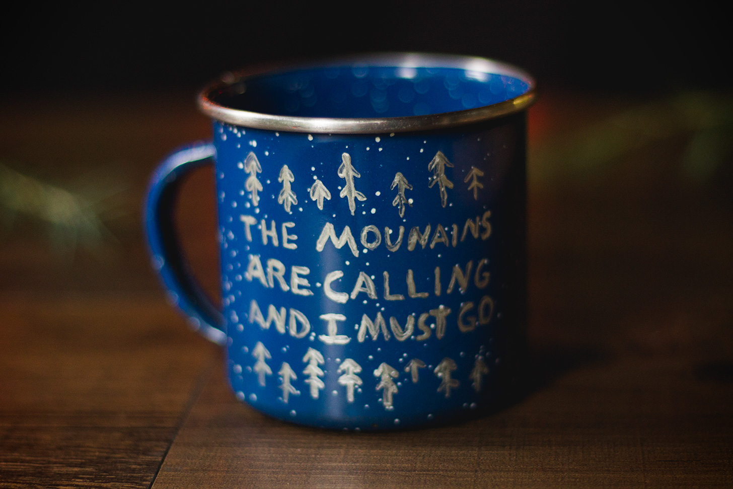 DIY Hand Painted Camp Mug! A GREAT holiday gift! #camping #backpacking #diy #gift