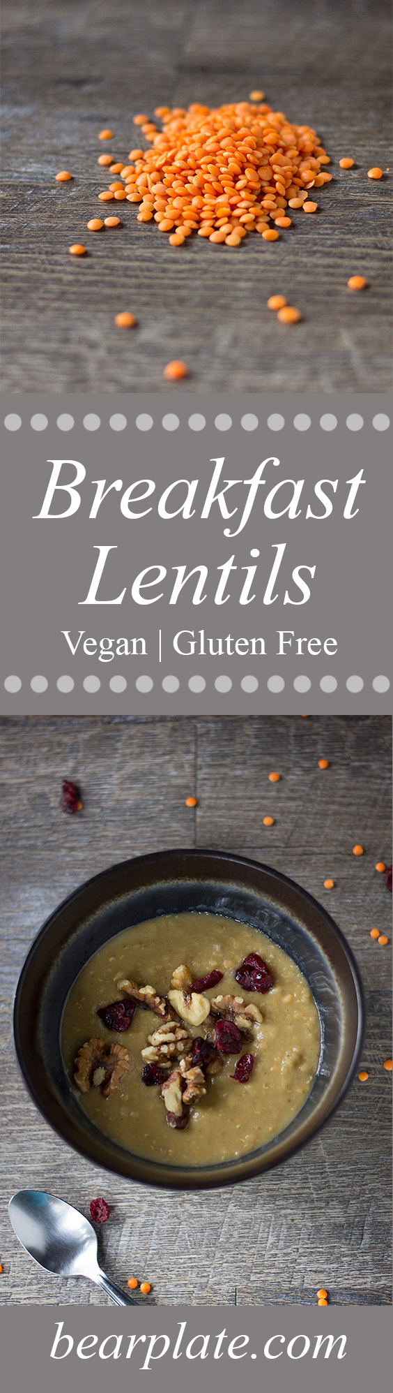 Breakfast Lentils! Perfect for backpacking or at home! #vegan #glutenfree #plantbased #breakfast #backpacking #recipe