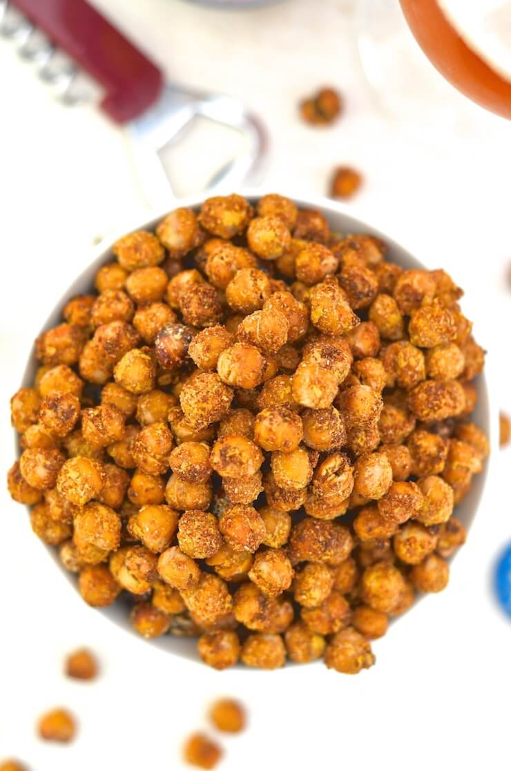 Cheese onion chickpeas