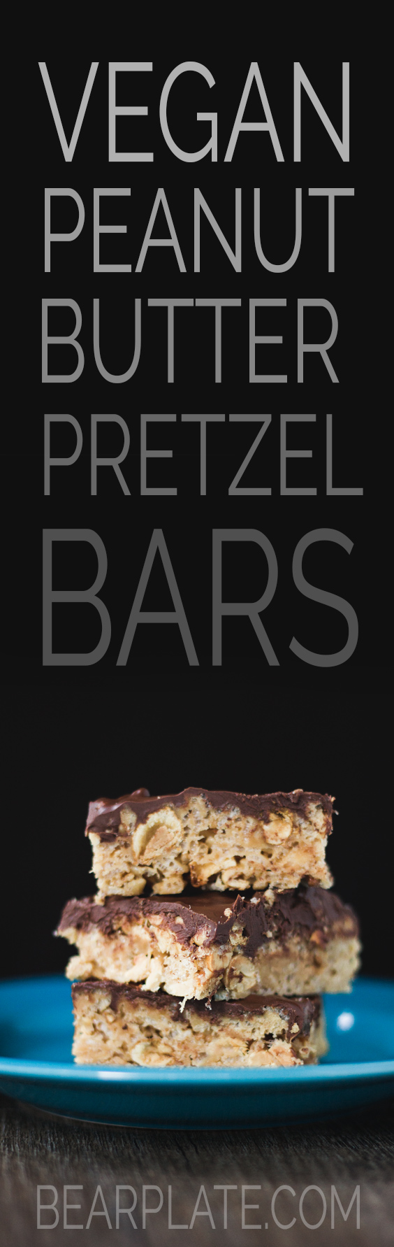 DELICIOUS Vegan Peanut Butter Pretzel Bars! Perfect for perfect for a game day snack! #vegan #dessert #superbowl #hiking #food #recipe
