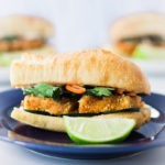 Vegan Banh Mi With Peanut Crusted Tofu