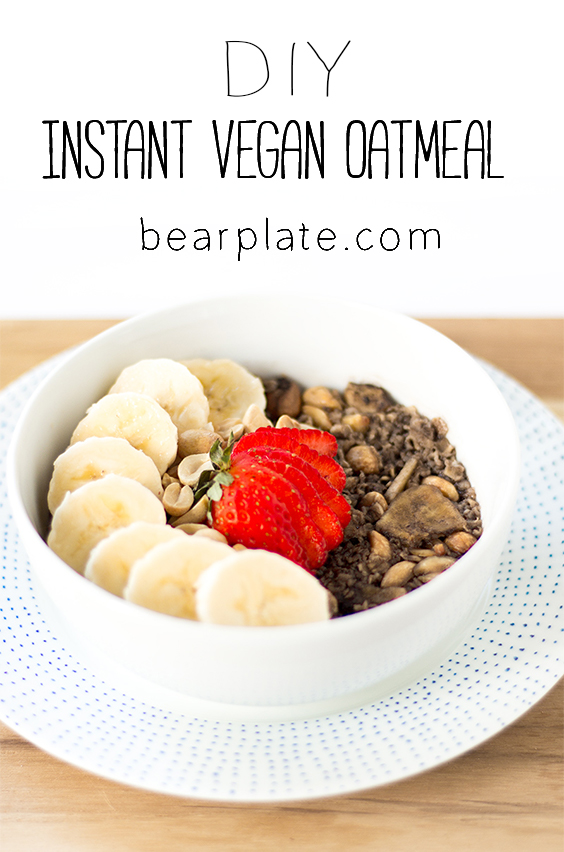 DIY Instant Vegan Oatmeal! Fast, easy, and budget friendly! #vegan #plantbased #breakfast #recipe