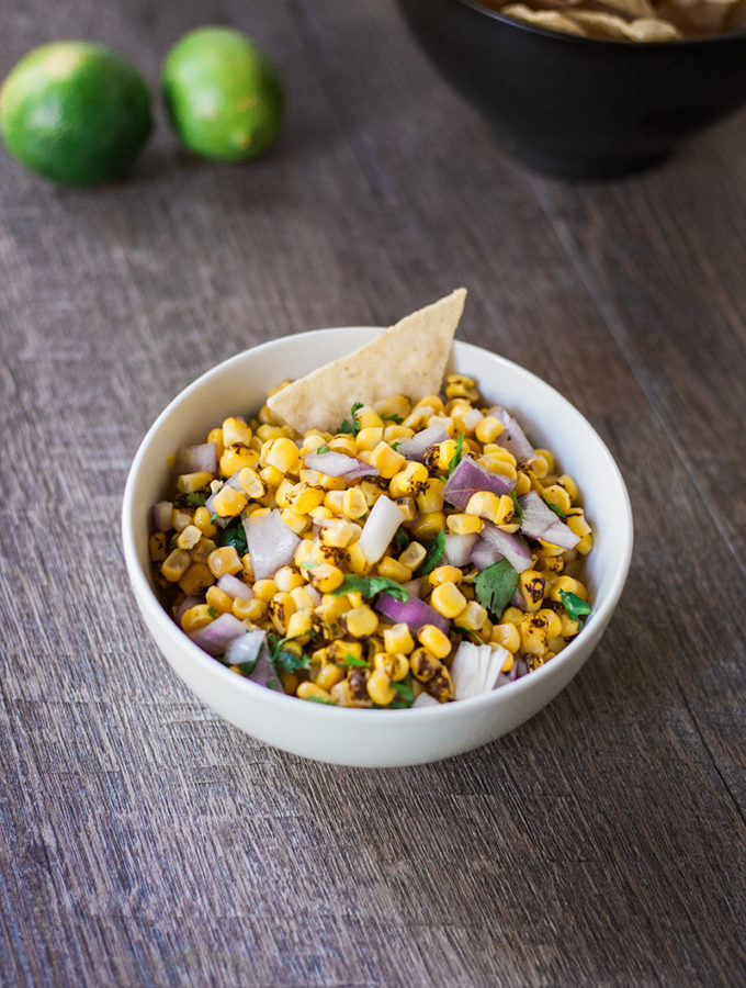 Roasted Corn Salsa (from frozen)