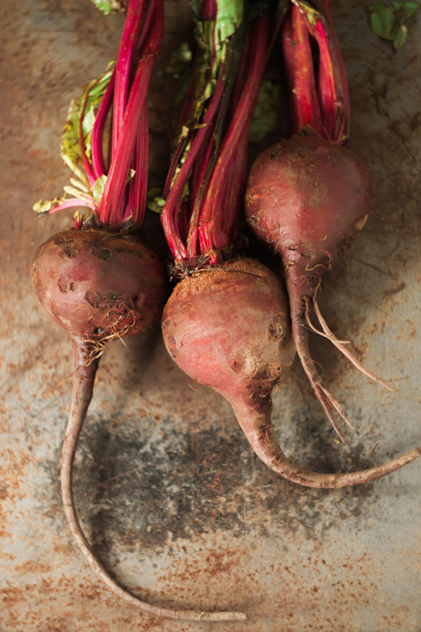 Three red beets