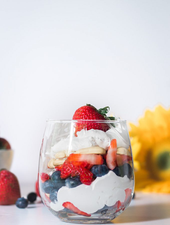 Easy Vegan Fourth Of July Parfait