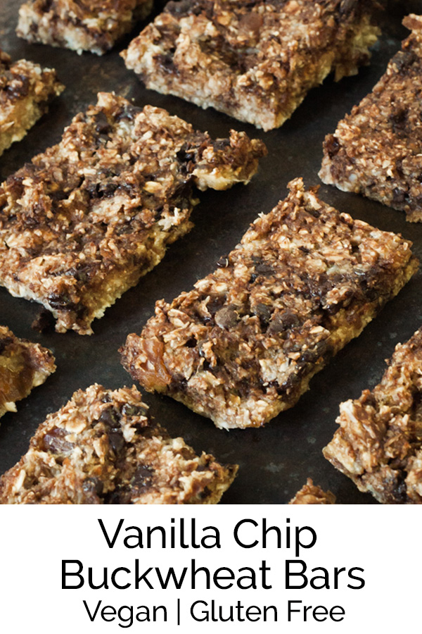 Easy and incredibly delicious Vanilla Chip Buckwheat bars! Reprinted with permission from Jackie Sobon's cookbook Vegan Yack Attack! #vegan #glutenfree #easyrecipe #bearplate
